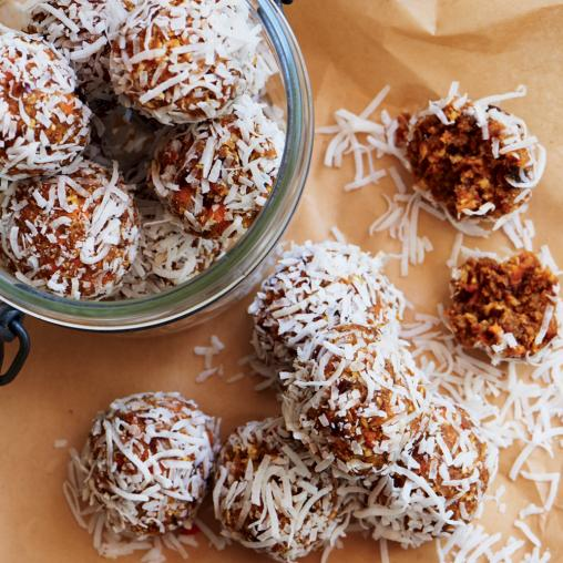 Carrot Cake Bliss Balls from Healthy Food Guide