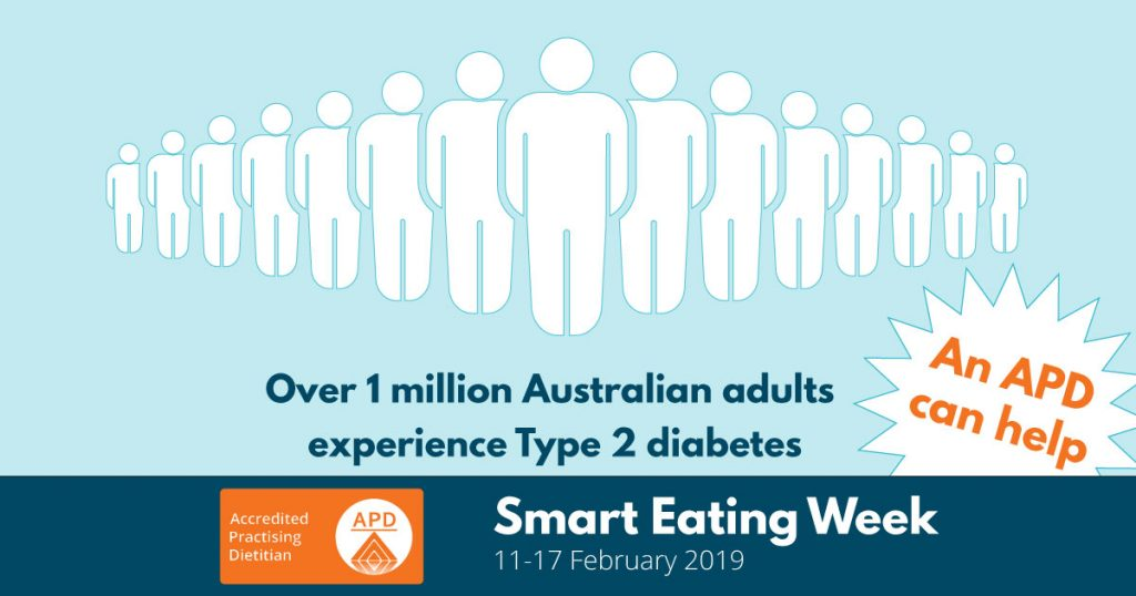 """graphic """"over 1 million australian adults experience type 2 diabetes"""""""
