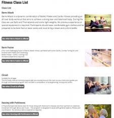Fitness-class-list