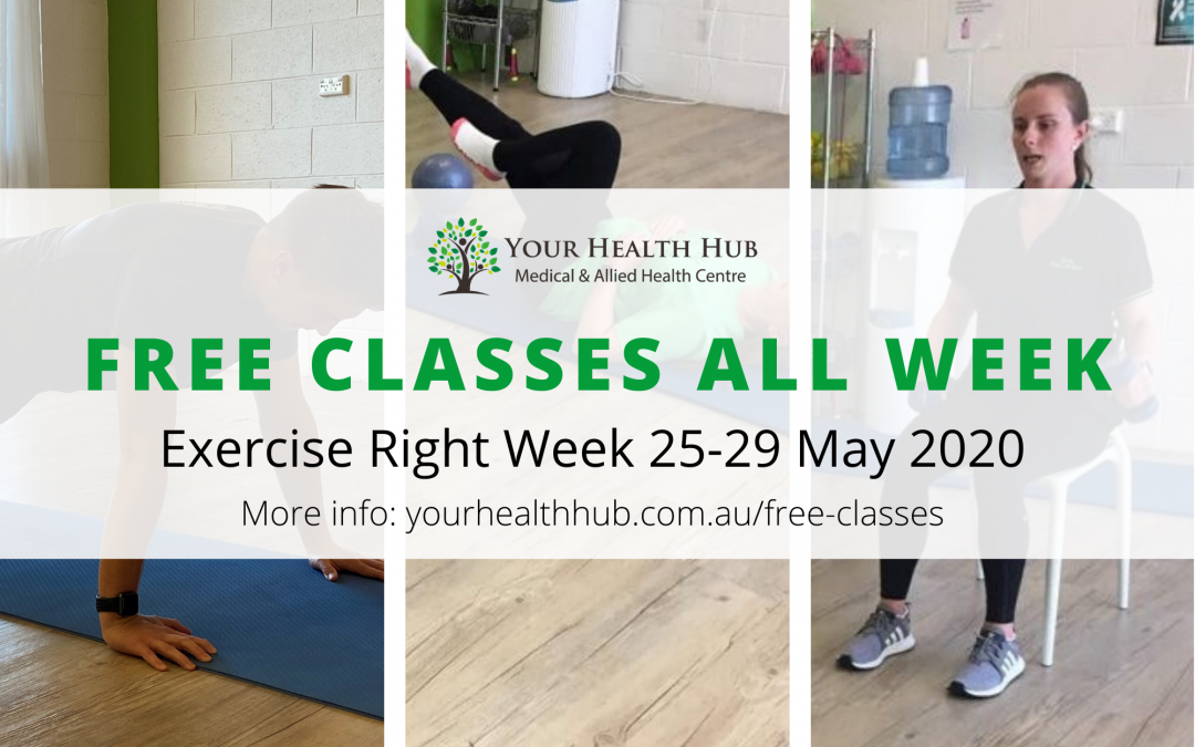 Exercise Right Week – Free Classes for a Week at Your Health Hub