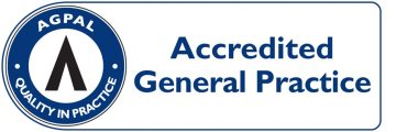 accredited general practice logo at your health hub
