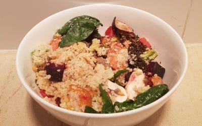 Dietitian's Recipe: Easy Roast Veg Quinoa Salad