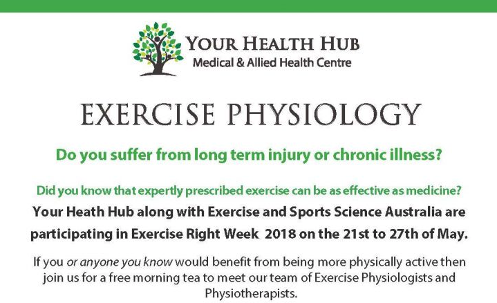 Exercise Right Week 2018