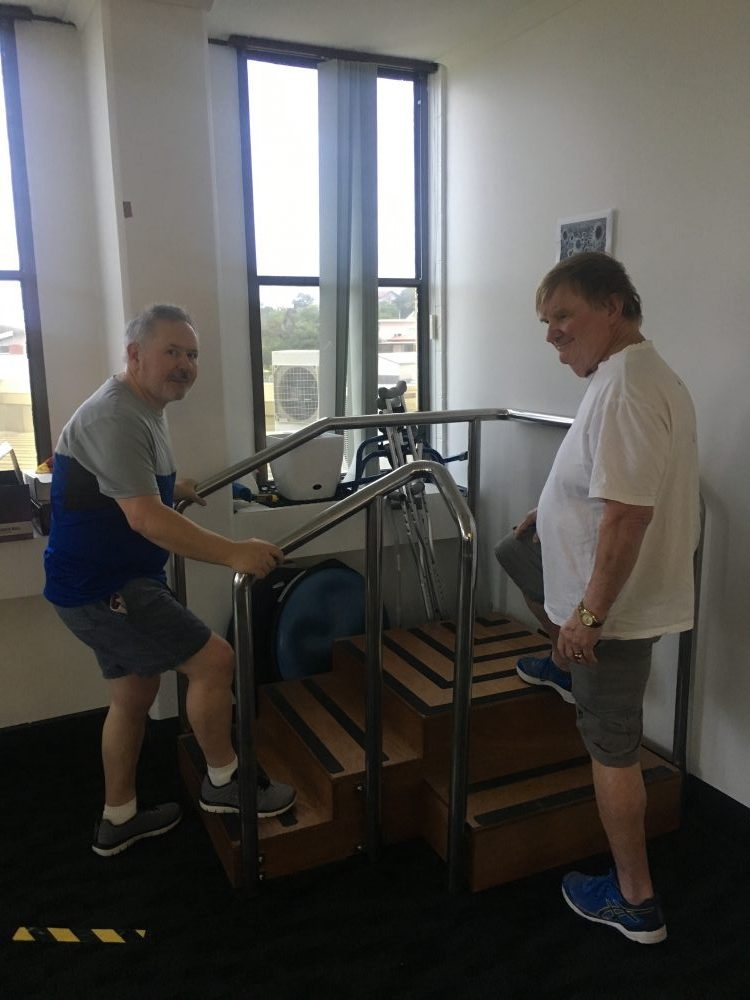 Both Stephen and Graham have been working hard with our Physiotherapist Bek over a few sessions a week to improve their coordination, balance and gait!