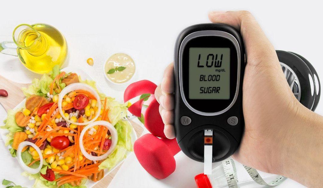 blood sugar machine read low above healthy food