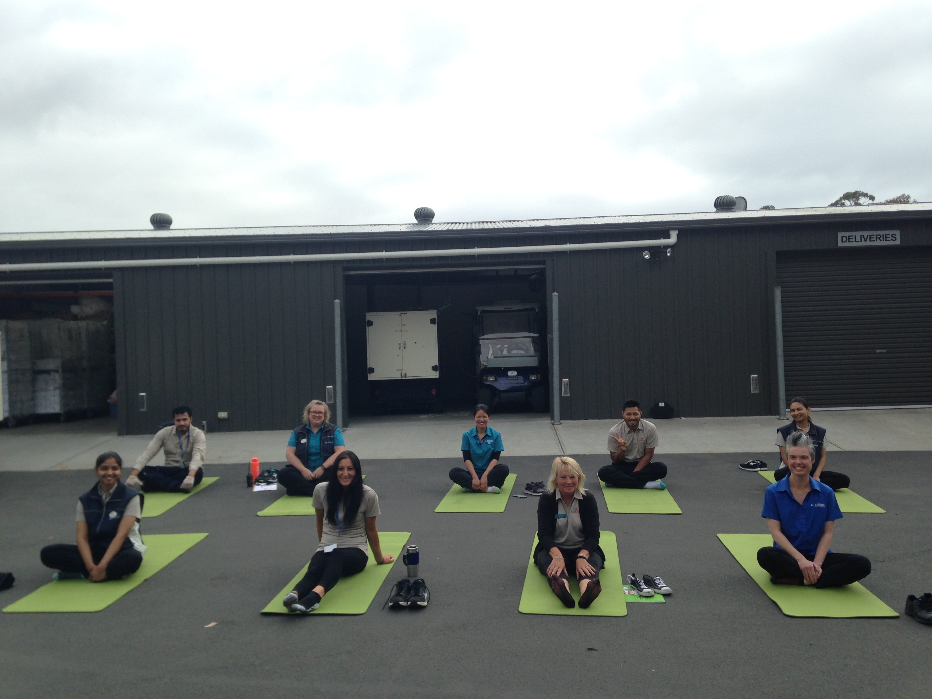 Workplace Yoga Classes are  a great Health & Safety Initiative